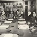 A meeting of the National Defence Committee under the chairmanship of Field-Marshal Mannerheim in 1937.